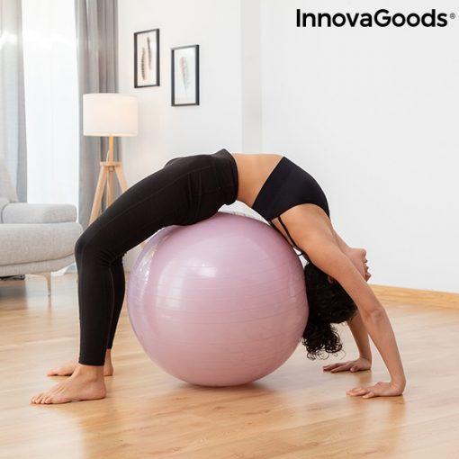 Gymnastique avec swiss ball stable et elastiques fitness