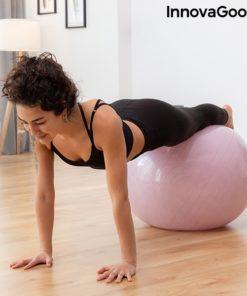 Gainage avec swiss ball stable et elastiques fitness