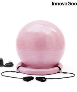 Swiss ball stable et elastiques fitness