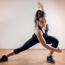 Exercice glissement lateral disques de glisse de fitness