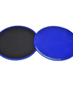 paire de disques glissant fitness bleue