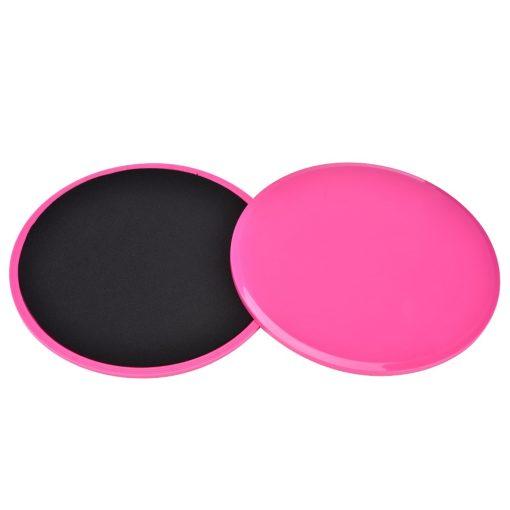 paire de disques glissant fitness rose