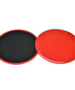 paire de disques glissant fitness rouge