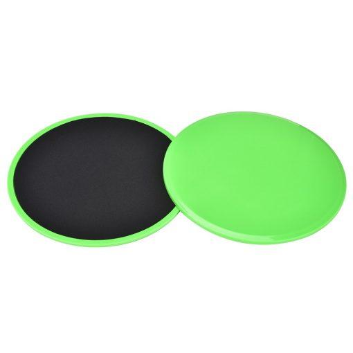 paire de disques glissant fitness vert