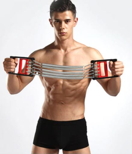 extenseur musculation fitness ressorts exercice etirement position initiale