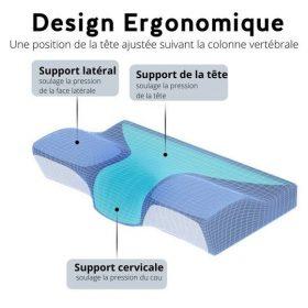 oreiller design ergonomique support tete cervical lateral