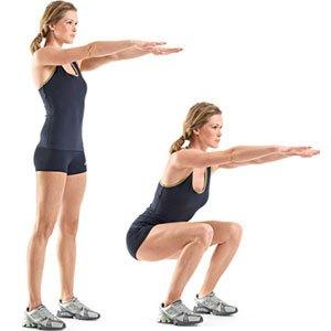 exercice du squat flexion de jambes