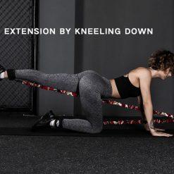 elastiques musculation jambes fessiers exercice kickback donkey kick
