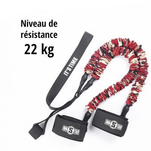 elastiques musculation jambes fessiers niveau de resistance 22kg