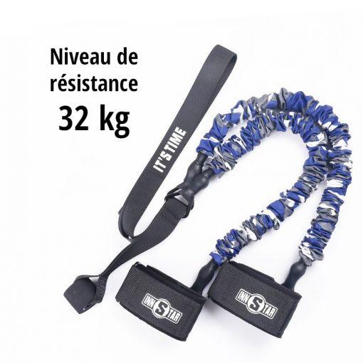 elastiques musculation jambes fessiers niveau de resistance 32kg