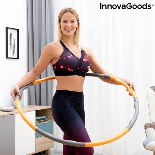 cerceau hula hoop retractable demontable adulte anneau de fitness demontable et recouvert de mousse o waist 1 kg