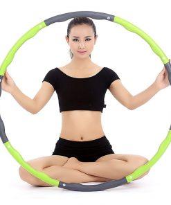 cerceau hula hoop retractable demontable adulte mixte vert dimensions poids 1 kg