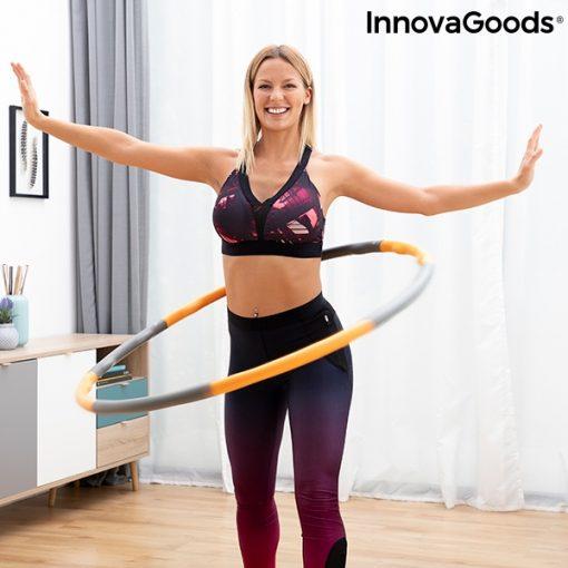 femme faisant tourner hula hoop reglable retractable demontable