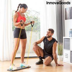 Femme tirage planche a pompes avec elastiques