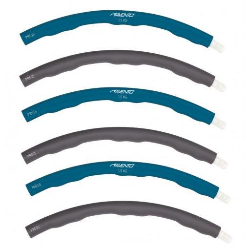 6 parties montable et demontables cerceau hula hoop fitness calories 1.2kg 100 cm