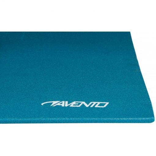 tapis de yoga matelas d exercice bleu gros plan