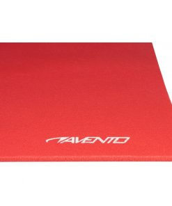 tapis de yoga matelas d exercice rouge gros plan