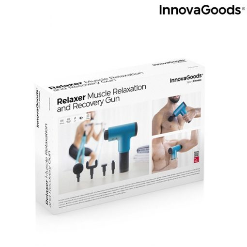 pistolet de massage pour la relaxation et la recuperation musculaire relaxer innovagoods packaging