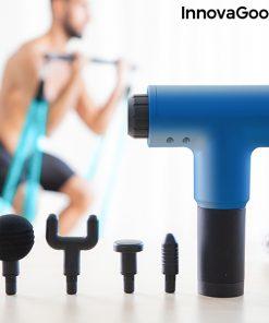 pistolet de massage pour la relaxation et la recuperation musculaire relaxer innovagoods 4 embouts
