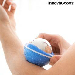 bille de massage effet froid relaxation bras