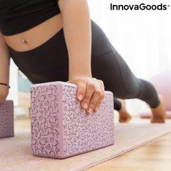 Brique de yoga à motifs gainage