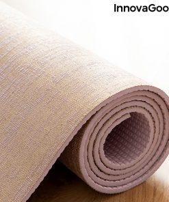 Tapis de yoga en jute de haute qualite