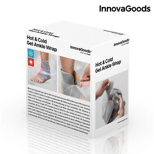 Attelle de cheville de cryotherapie chevillere gel amovible effet chaud froid packaging
