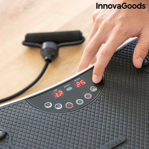 Plateforme vibrante avec elastiques boutons de controle