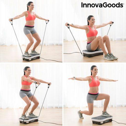 Plateforme vibrante avec elastiques multifonction nombreux exercices fitness