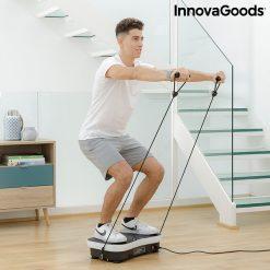 Plateforme vibrante avec elastiques homme entrainement
