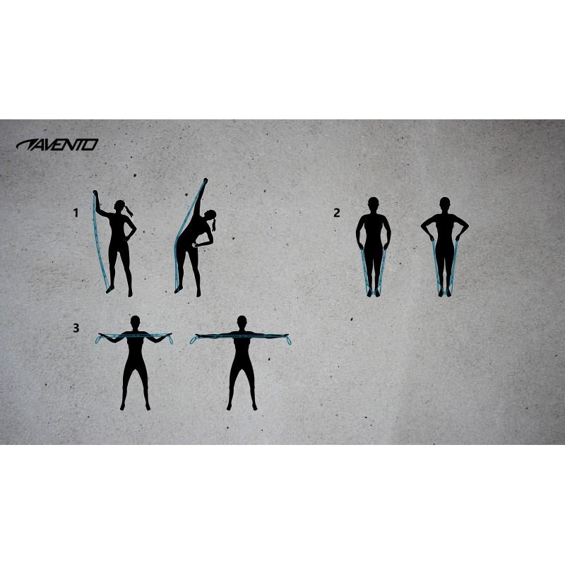 elastique musculation fitness souple 6 boucles poignees multiples noir exemples exercices