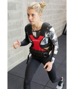 femme sportive exercice avec Gilet leste 10 kg ajustable