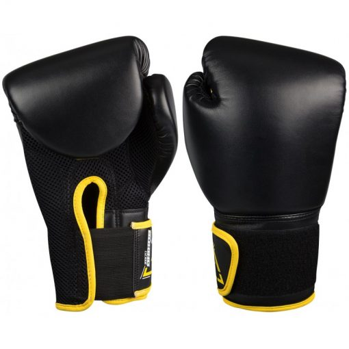 gants de boxe noir kick boxing 14 oz poids moyen