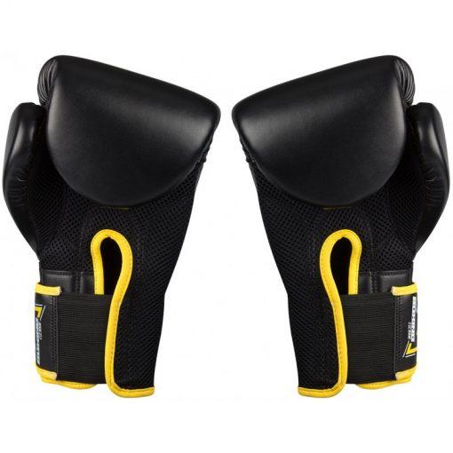 gants de boxe noir kick boxing 14 oz poids moyen paumes