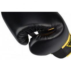 gants de boxe noir kick boxing 14 oz poids moyen pouce