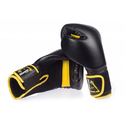 gants de boxe noir kick boxing 14 oz poids moyen sparring