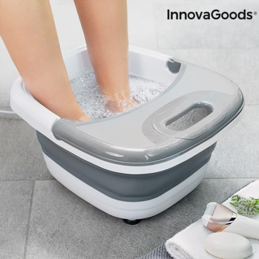 appareil spa pour bain pieds pliable aqua relax innovagoods bulles