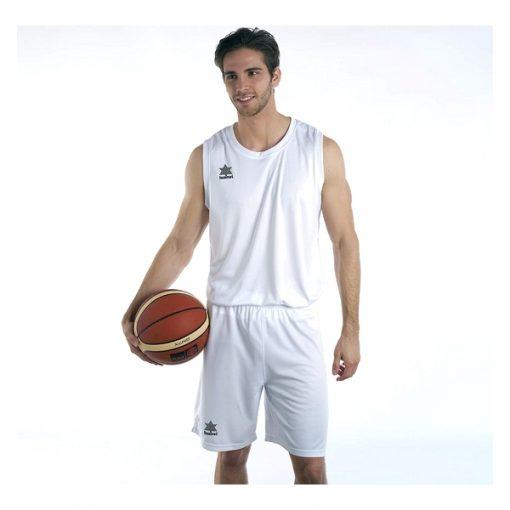Débardeur pour homme blanc Pol Luanvi basket