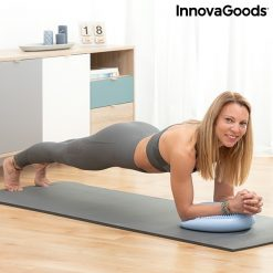 femme gainage coussin equilibre