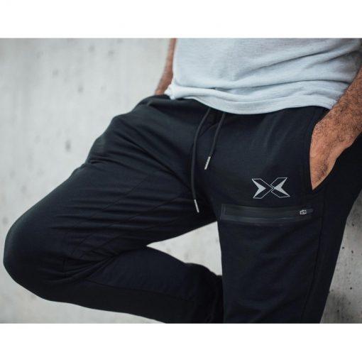 pantalon jogging sport fitness musculation homme noir core picsil logo
