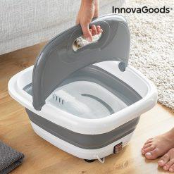 appareil spa pour bain pieds pliable aqua relax innovagoods facile a transporter