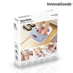appareil spa pour bain pieds pliable aqua relax innovagoods packaging