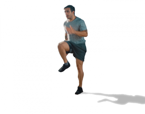 exercice course sur place