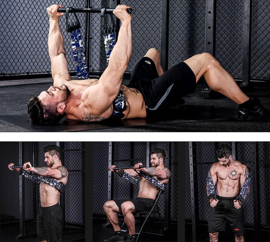 bande elastique resistance musculation pectoraux exercices