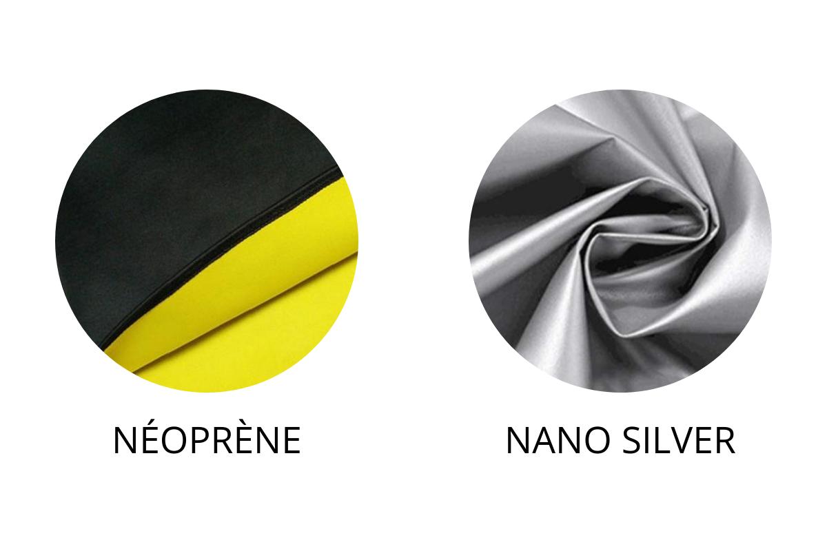 tenue de sudation effet sauna neoprene nano silver differences